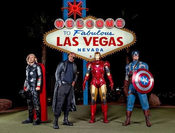 Avengers assemble on Las Vegas Strip