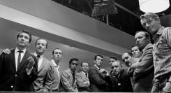 "The famous ""Ocean's Eleven"" photograph, circa 1960."