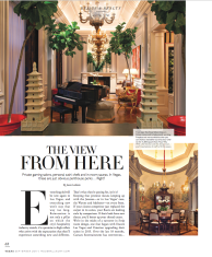 The View From Here feature, written by Las Vegas-based writer Jason R. Latham, in the Design and Beauty section of Modern Luxury's Vegas Magazine Fall 2017 issue.
